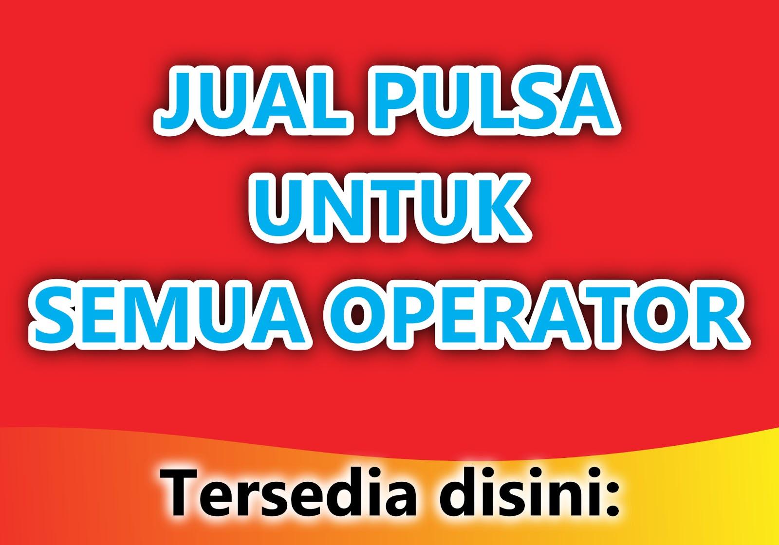 Contoh Gambar Spanduk Jualan Pulsa - desain banner kekinian