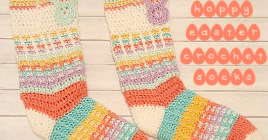 Hoppy Easter Crochet Socks