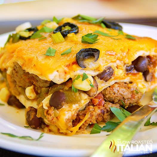 Taco Lasagna with Tortillas