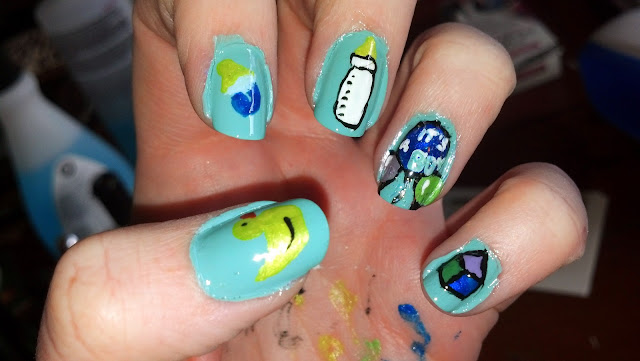 The Nail Diaries: Baby Shower Nails