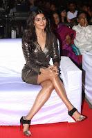 Pooja Hegde looks glamarous in deep neck sleevless short tight golden gown at Duvvada Jagannadham thank you meet function 103.JPG