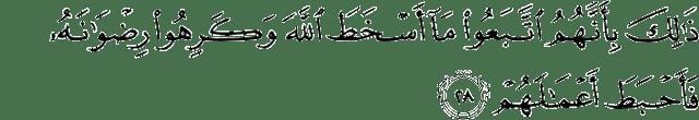 Surat Muhammad ayat 28