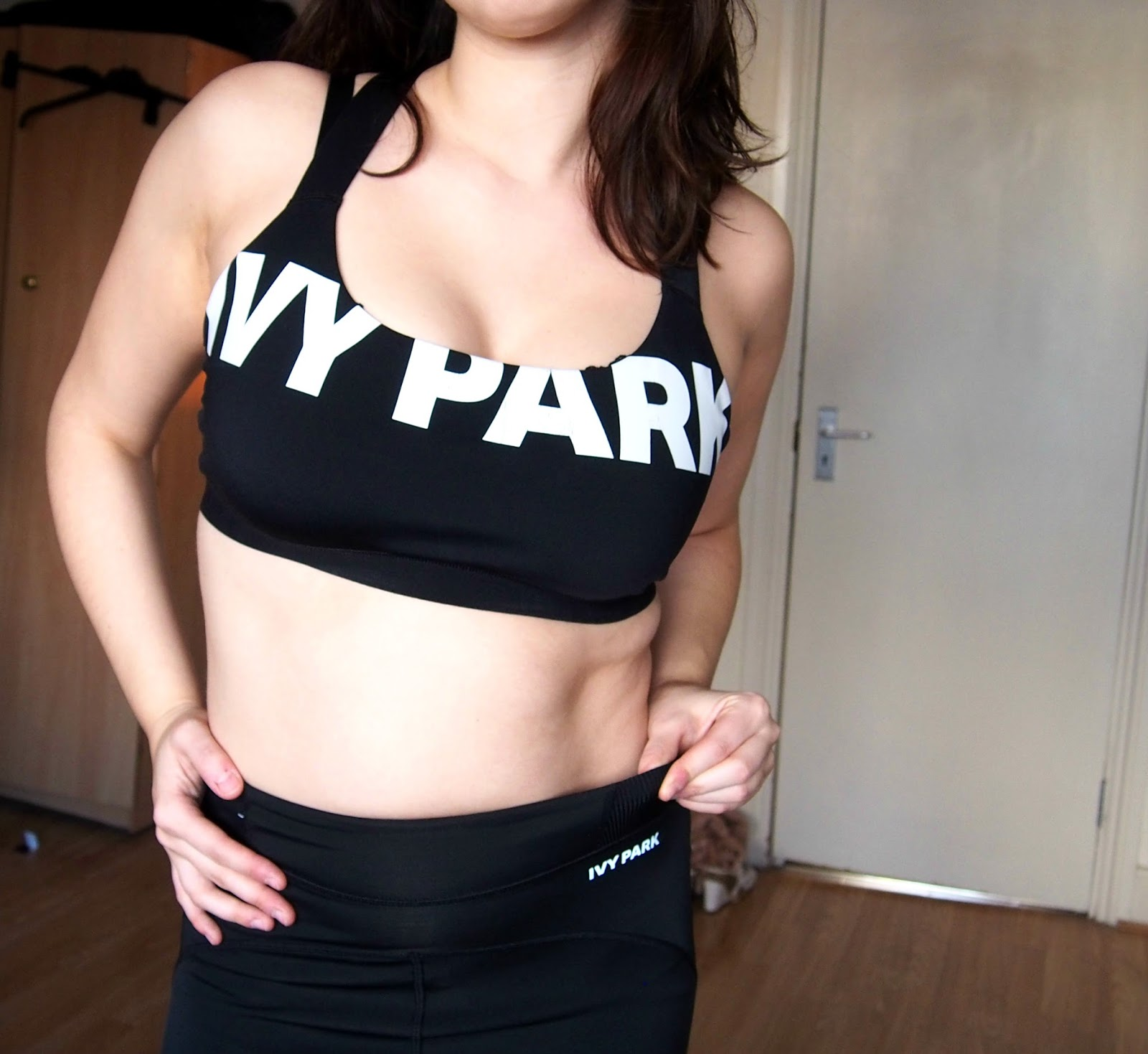 sports bra and leggings