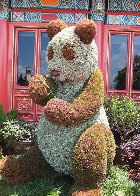 EPCOT Topiary Panda in China Pavilion