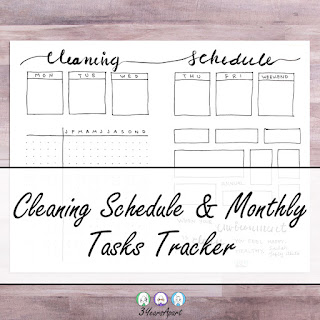 3 Years Apart Cleaning Schedule Tracker Free Printable