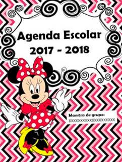 agenda escolar gratis de minnie mouse