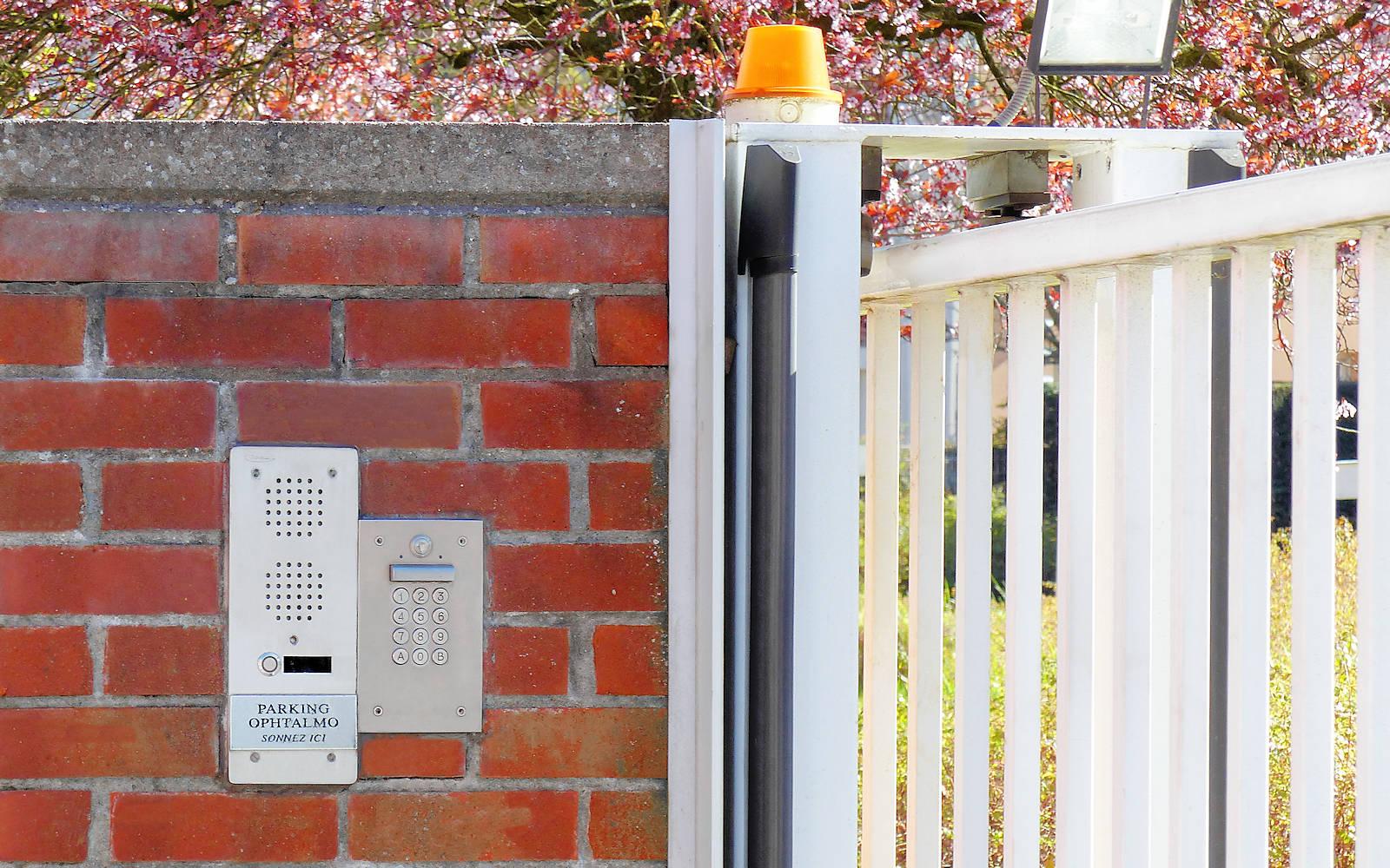 Ophtalmo Tourcoing - Interphone parking AOBEFFROI