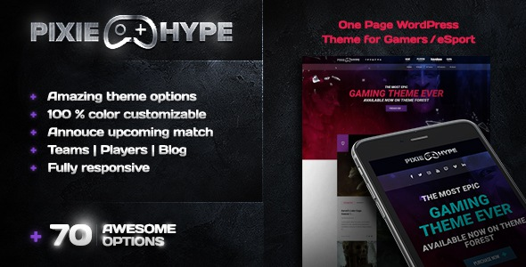 Responsive WordPress theme for Gamers/eSport