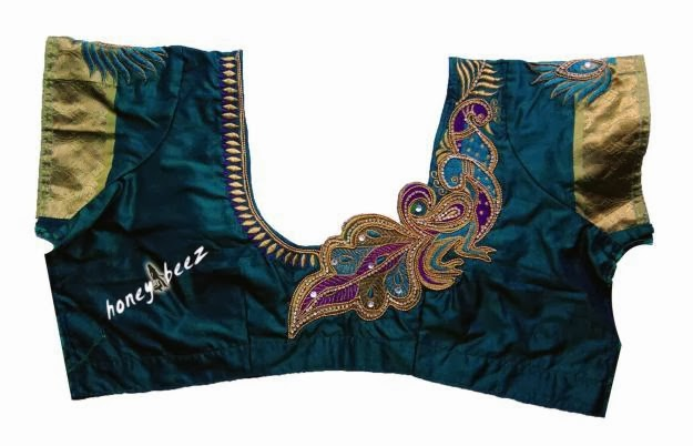BACK NECK BLOUSE READY MADE AND CUSTOMIZED DESIGNER BLOUSE WITH BLOUSE DESIGNS CATALOGUE ...