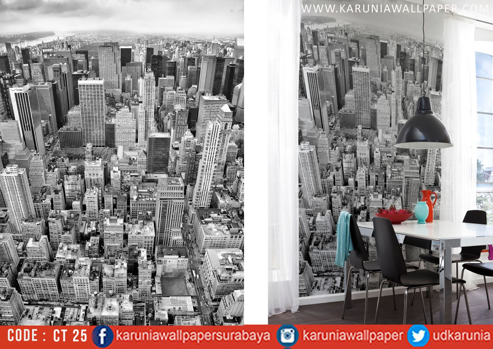 jual wallpaper photowall kota pemandangan
