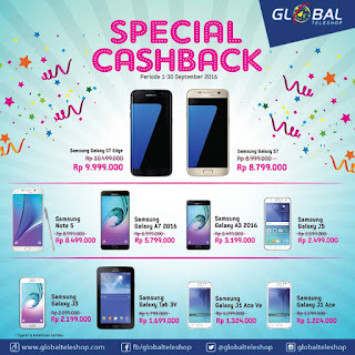 Spesial Cashback 10 Ponsel Samsung di Global Teleshop
