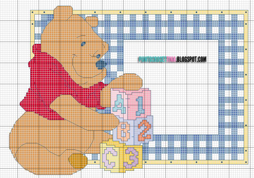 Schema punto croce winnie the pooh per bambini gratis for Winnie the pooh punto croce schemi