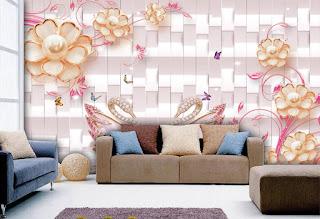 ورق جدران ثلاثي الابعاد 3D بديكورات وتصميمات مودرن