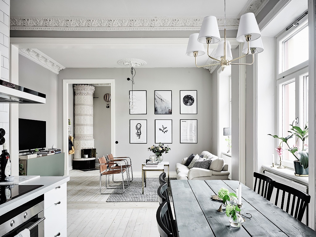I Really Like The Atmosphere In This Apartment. The Way How Is The Kitchen  Connected With The Living Area Creates An Amazing Opened Space. As The Home  Uses ...