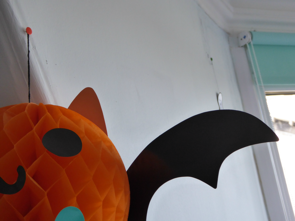 Honeycomb bat Halloween decoration