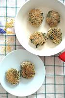 kotlety z kaszy jaglanej ze szpinakiem