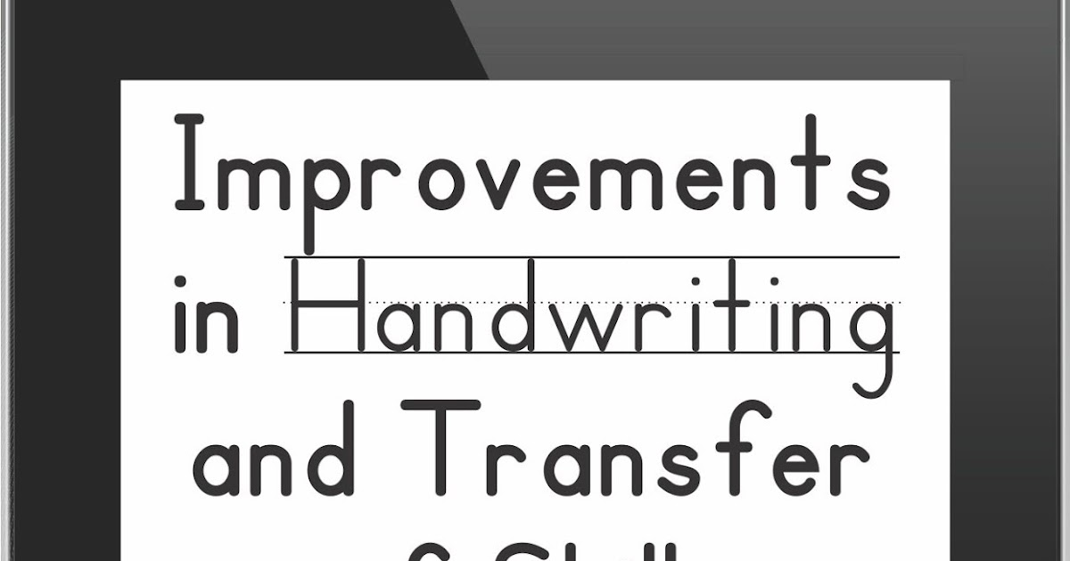 Improvements in Handwriting Following iPad Instruction