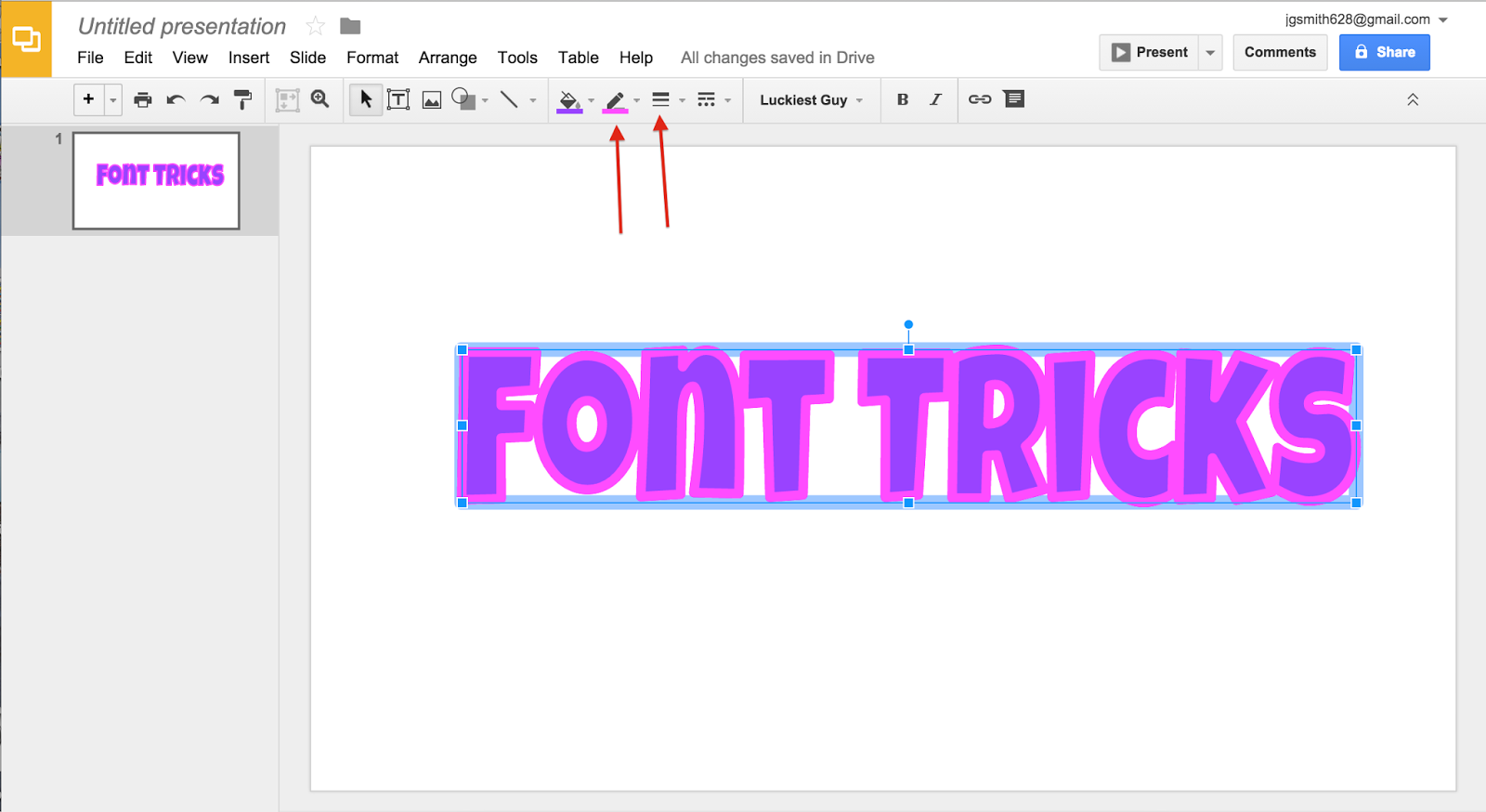font tricks the techie teacher