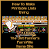 How To Print Lists Of Items Using The Dirt Farmer's Farmville Items Site.