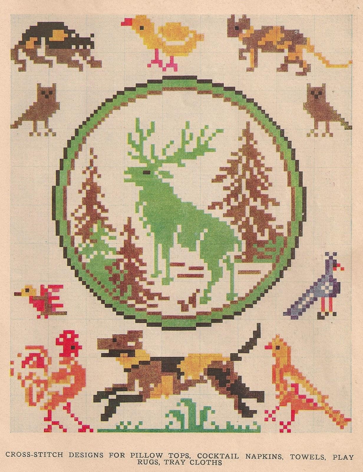 Sentimental Baby Free Vintage Colored Cross Stitch Pattern