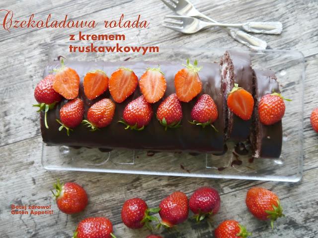 Rolada czekoladowa z kremem truskawkowym - II warianty - Czytaj więcej »