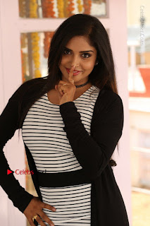 Telugu Actress Karunya Chowdary Stills in Black Dress at Soda Goli Soda Movie Opening  0013.JPG