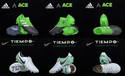 PES 2018 / PES 2017 Nike Tiempo VI & Adidas Ace 17.1 Leather by Tisera09