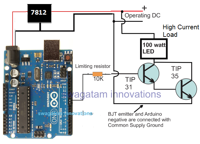 connecting Arduino with a high power LED