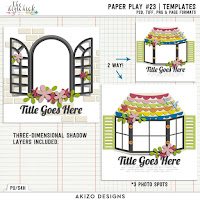 Template : Paper Play 23 by Akizo Designs