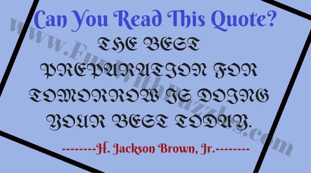 Reading Brain Teaser
