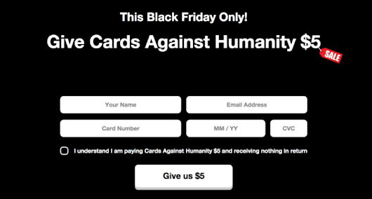 Cards Against Humanity Win Black Friday Again With The Best Worst Deal