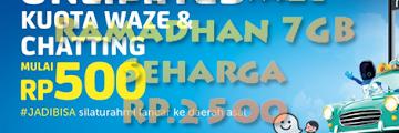 Mengubah Paket Xtra Kuota Waze Ramadhan 7GB Seharga RP.2500