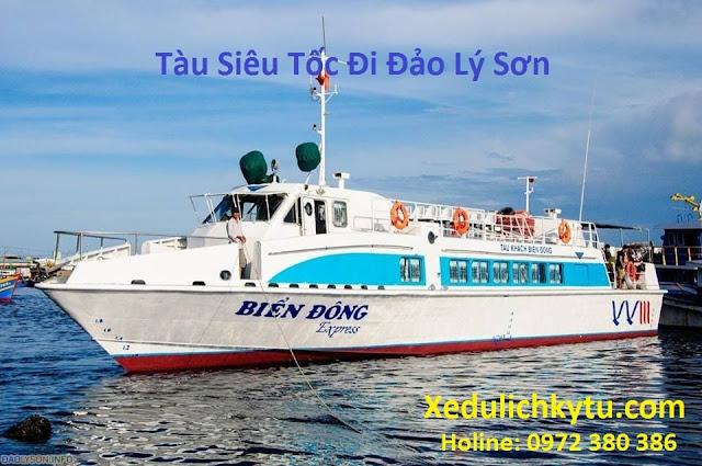 Lịch tàu siêu tốc Sa Kỳ Lý Sơn