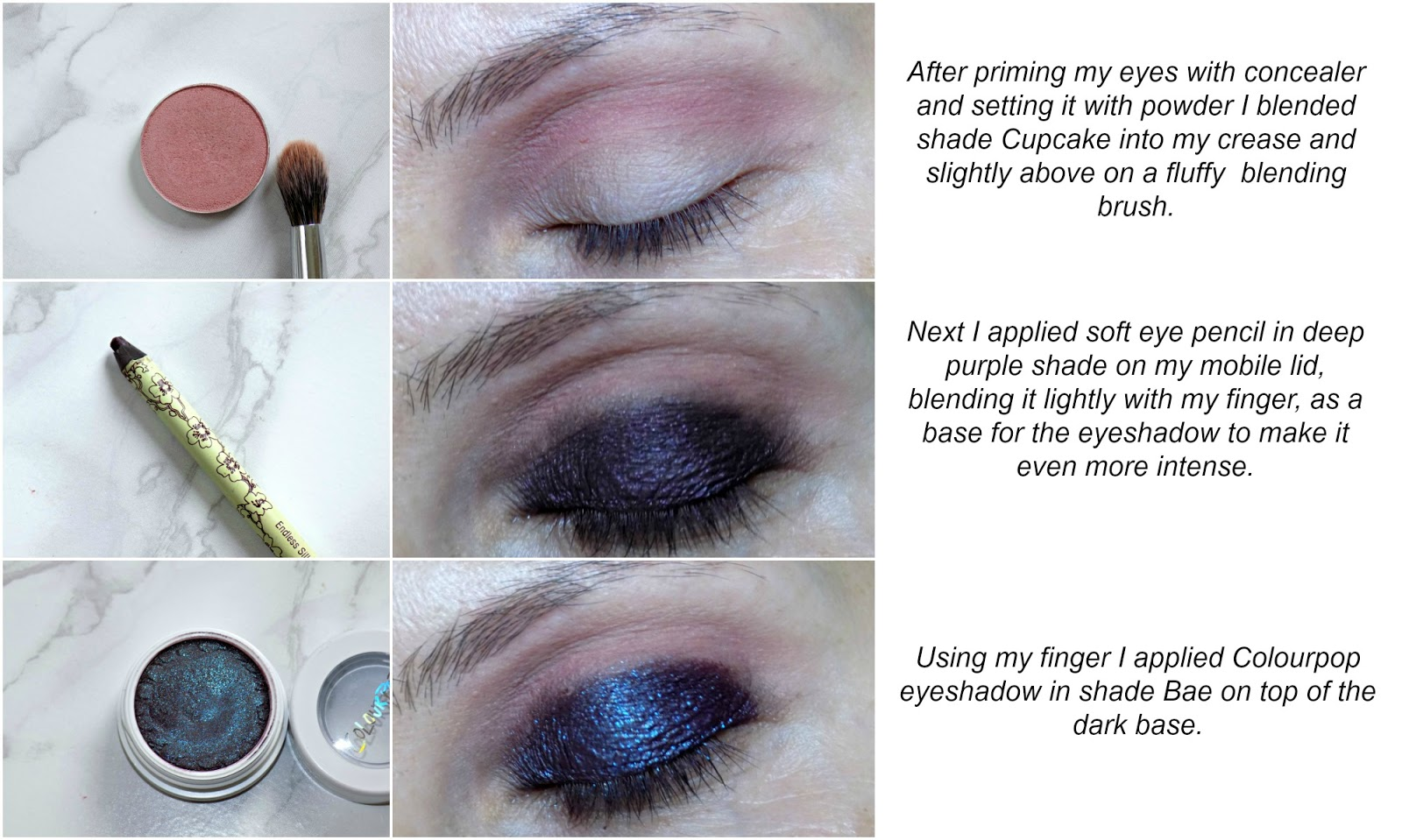 deep purple smokey eyes makeup tutorial