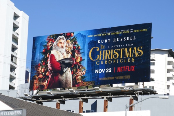 Christmas Chronicles movie billboard