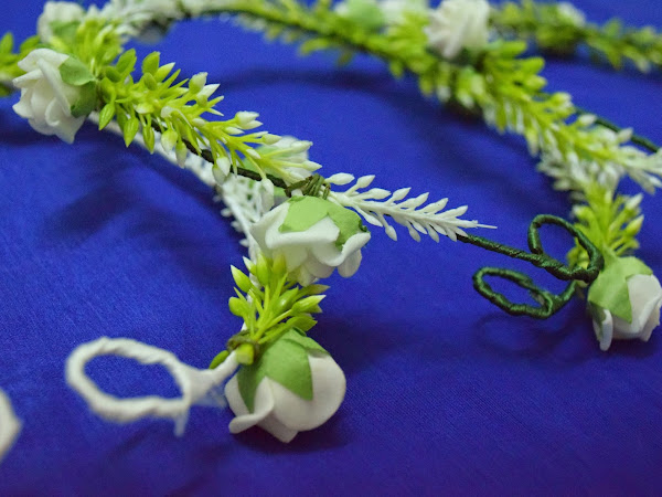 {Real DIY} : Handmade flower crown for Bridesmaid ( Eisya's Wedding)