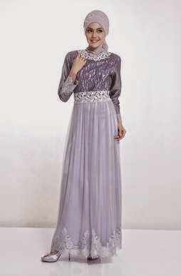 Kombinasi gaun pesta muslim untuk wanita