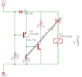 Low Current Relay Circuit | diagram schematic