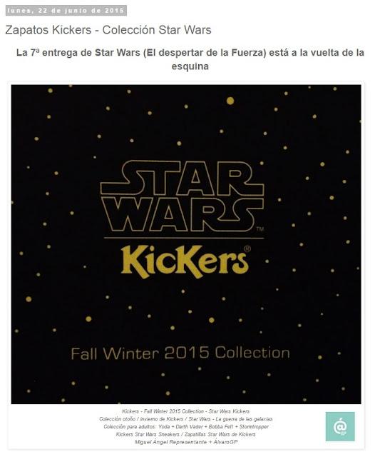 Zapatos Kickers - Colección Star Wars - Lo + leído en el troblogdita - marzo 2016 - Álvaro García - ÁlvaroGP - el troblogdita - el fancine - el gastrónomo - @repaci31
