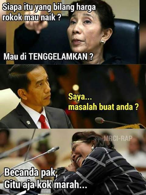 Becanda pak Jokowi.