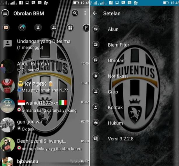 BBM Mod Tema Juventus