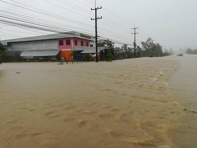 Сильное течение воды в городе