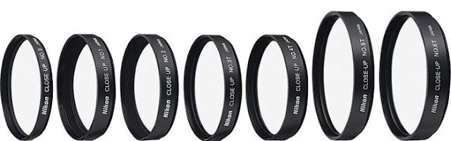 Fotografia di set di lenti addizionali per fotografia macro