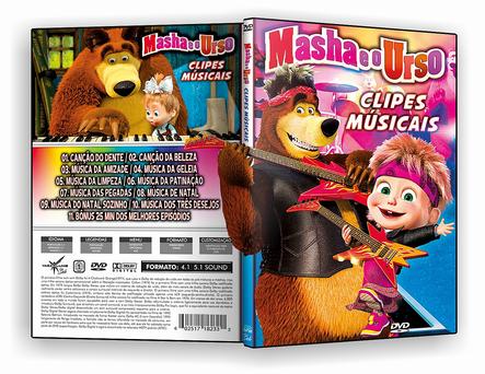 CAPA DVD – MASHA E URSO – CLIPES MUSICAIS – ISO