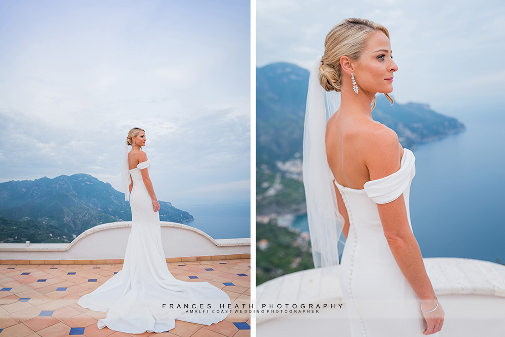 Bride portrait in reception dress