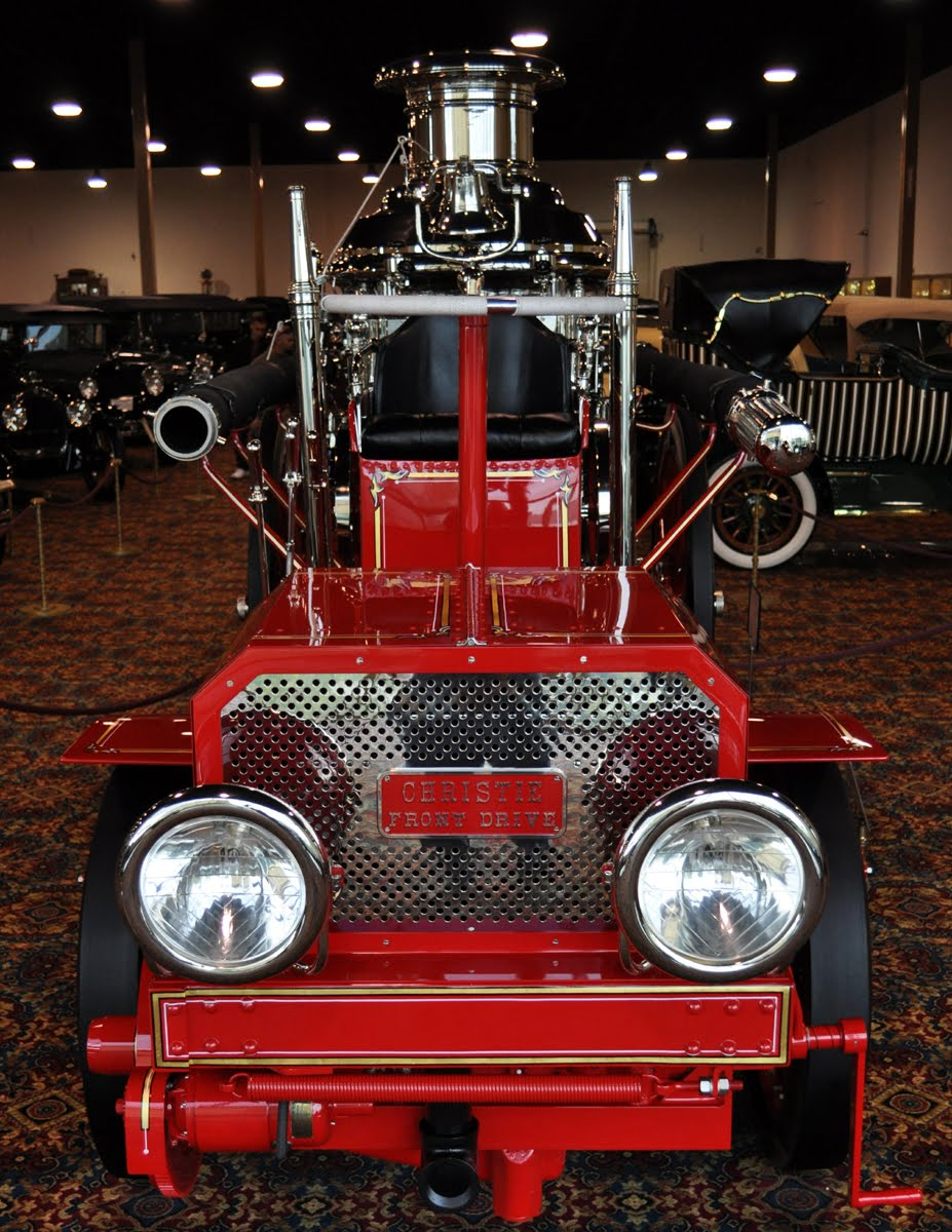 Just A Car Guy: 1913 Christie Front Drive steam pumper/ fire engine