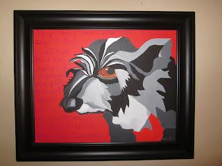 Yoda-Booda dog painting