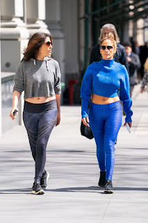 Jennifer Lopez At the Gym With Her Sister in NYC