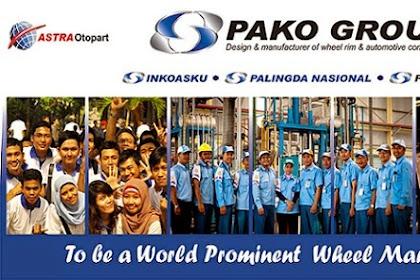 Lowongan Kerja Terbaru PT. PAKO GROUP Batas Pendaftaran 30 April 2019