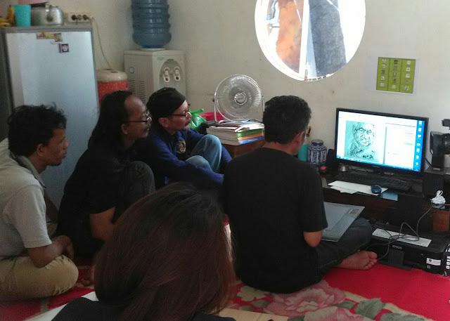 kelas gambar kartun SECAC bareng Jitet Koestana